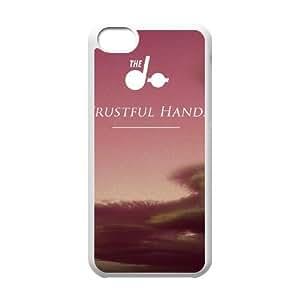 El caso DÃ~ confianza MANOS funda iPhone 5c teléfono celular funda blanca de la cubierta, funda de plástico caja del teléfono celular