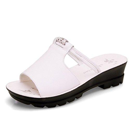 De Antideslizante Las Cool De Suave Zapatillas Zapatillas Verano Señoras Fondo Blanco Inferior weiwei Grueso Moda Plano vgqOwSxB