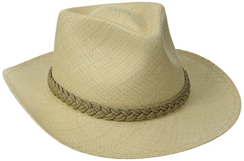 Scala Men's Panama Outback Hat, Natural, Medium - Hat Outback Cap