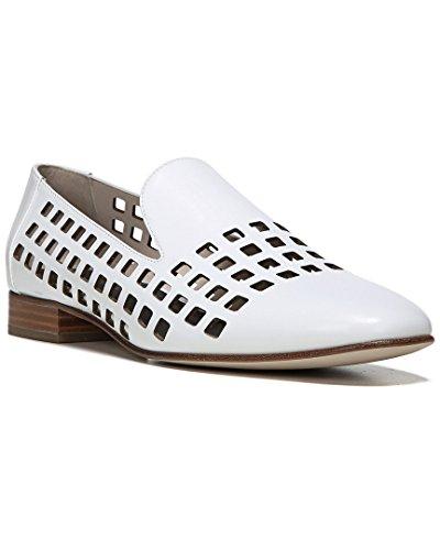 Diane von Furstenberg Women's Linz Perforated Loafer White 6.5 B US