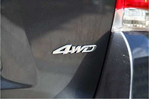 4WD Car Chrome Sticker Badge Emblem For All Wheel Drive Off Road SUV Auto Xotic Tech Direct