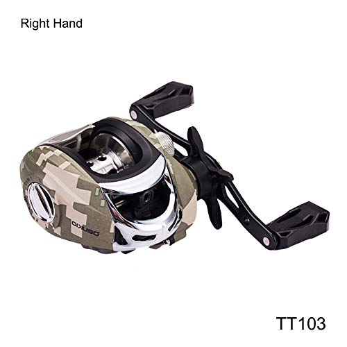 Fishing Accessories, Camouflage 5+1 Ball Bearing 7.3:1 Left/Right Hand Baitcasting Fishing Reel - Right Hand