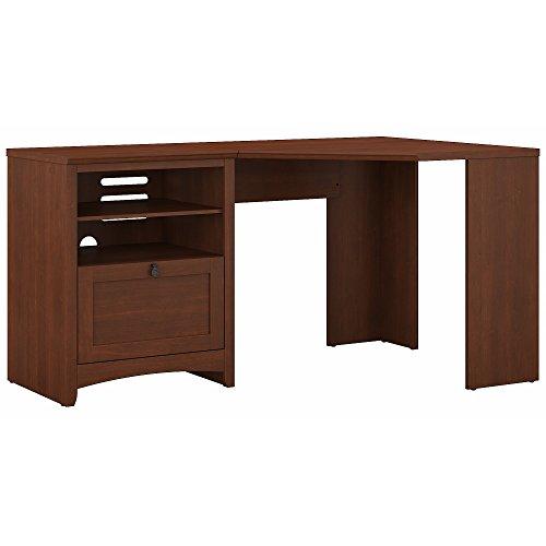 Bush Furniture Buena Vista 60W Corner Desk with Storage in Serene Cherry