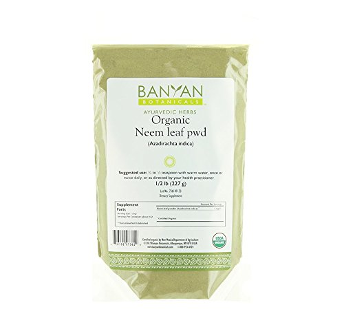 Banyan Botanicals Neem Powder - USDA Organic - 1/2 Pound, Azadirachta indica - Ayurvedic Herb for Skin & Blood