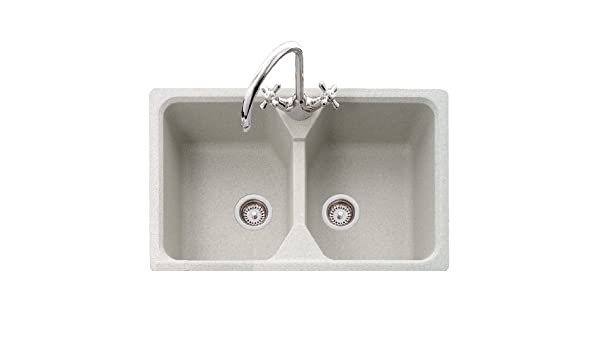 Mitrani EM200F G Elmo Double Granite Sink Graphite   Double Bowl Sinks    Amazon.com