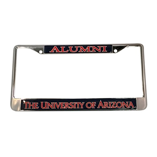 University of Arizona License Plate Frame/Tag For Front Back of Car Officially Licensed (Alumni - Metal Frame) (Greek Plate License Frame)
