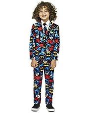OppoSuits Kids Batman Superhero Suit   Kids Slim Fit Costume   Includes Matching Blazer Jacket, Pants & Tie