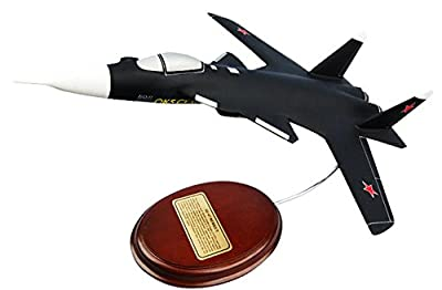 Mastercraft Collection Sukhoi Aviation Corporation Su-47 Berkut Russian Air Force Supersonic Jet Fighter Aircraft Plane Experimental Model Scale:1/74