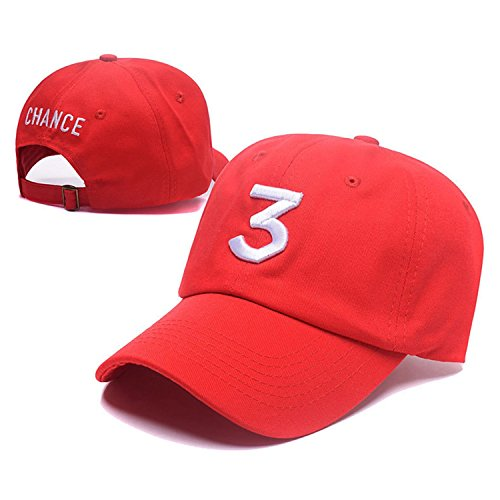 IVYRISE Embroider Chance Baseball Caps Hats Cool Baseball Rapper Number 3 Cap, Rock Hip Hop Classic Casquette with Adjustable Strap, Cotton Sunbonnet Plain Hat, Color ()