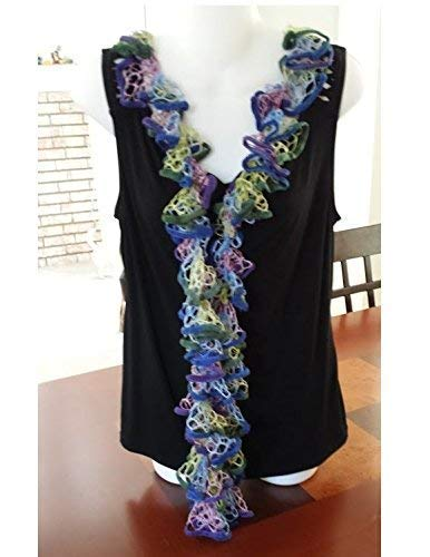 f03b3e4b038e6 Amazon.com: Scarves for Women Ruffle Scarf Purple Sashay Scarf Wrap Scarf  Sashay Ruffle Scarf Blue Scarf Fashion Scarves Infinity Scarf Neck Scarf:  Handmade