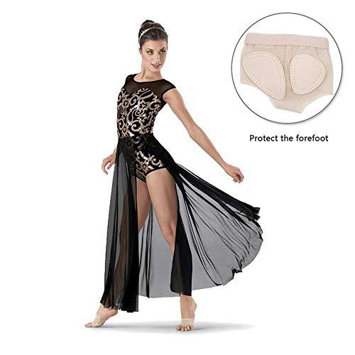 Filles Respirant vêtement Pour Dance Skin Avant Coussinets pied Chaussures Pied Paw Dance Coussin Ballet Demi D'orteil Kobwa String Danse Sous Semelle Belly Color Femme Lyrical RnqBYn8ZW