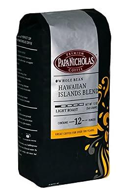PapaNicholas Hawaiian Islands Blend Whole Bean Coffee, 12-Ounce Bag (16003)