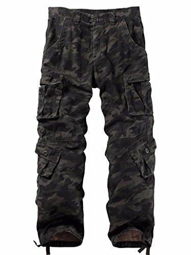 Must Way Men's Cargo Regular Trouser Army Combat Work Trouser Workwear Pants with 8 Pocket 3357 B Camo 38
