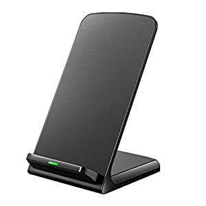 Galaxy S9 Wireless Charger, Seneo 3 Coils iPhone X Wireless Charger, Qi Wireless Charging Pad Stand for iPhone X 8 8Plus, Samsung Galaxy S9 Note 8 S8 S7 S6 LG G6 LG V30 and all Qi-enabled Smartphones