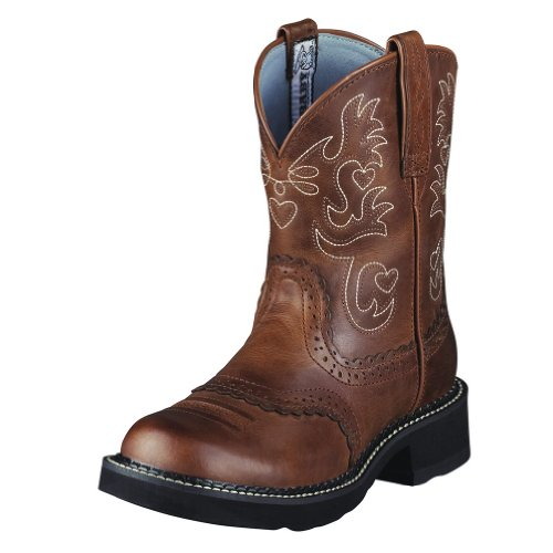 Ariat Western Boots Womens Fatbaby Cowboy Russet Rebel 10000860