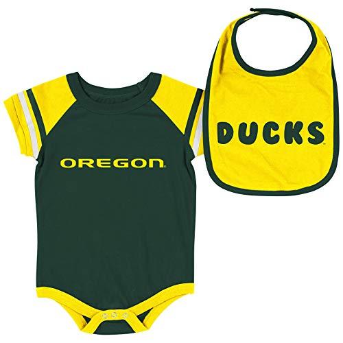 Short Sleeve Bodysuit and Bib 2-Pack-Newborn and Infant Sizes-Oregon Ducks-3-6 Months ()