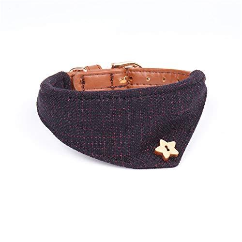 bluee,1.3×24-30CM Pet Online Pet Triangle Collar Collar Fashion Breathable Adjustable Dog Collar,bluee,1.3×24-30CM