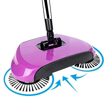 eazyhurry 360 Rotary Manual Floor Dust Sweeper Household Cleaning Hand Push  Sweeper Broom (Purple)