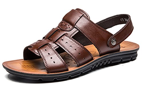 46 nere taglia 47 da casual sandali spiaggia Marrone scarpe toe freddi uomo pantofole estivi 45 uomo da grandi da Bebete5858 dimensioni open scarpe Sandali faqBxcwO