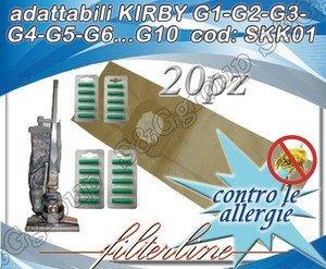 sacchetti kirby  20 SACCHETTI + 20 PROFUMATORI CARTA ADATTABILI KIRBY G1-G2-G3-G4-G5 ...