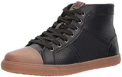Ben Sherman Men's Madison Hi Sneaker, Black/Black, 10 M - Fashion Sherman