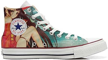 Unbekannt Sneakers Unisex American USA - Base Print Vintage 1200dpi - Cutomized - personalisierte Schuhe (Handwerk Produkt) Japan Fantasy