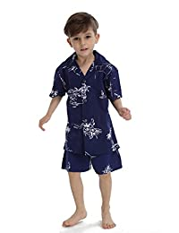 Hawaii Hangover Boy Aloha Luau Shirt Christmas Shirt Cabana Set in Navy Map Classic
