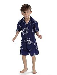 Hawaii Hangover Boy Aloha Luau Shirt Christmas Shirt Cabana Set in Navy Map Classic