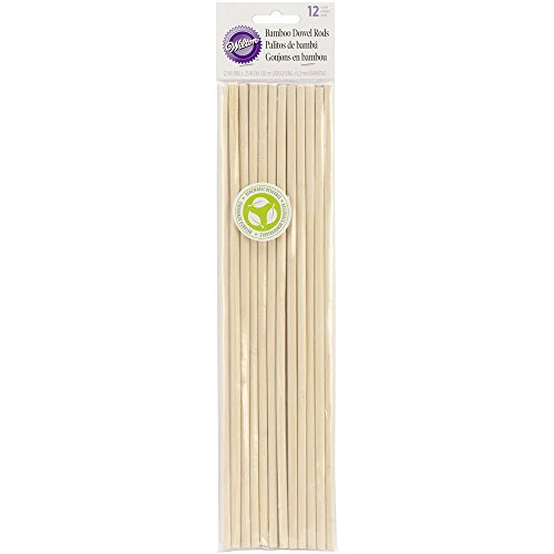 Wilton Bamboo Dowel Rods 12 Pack 12