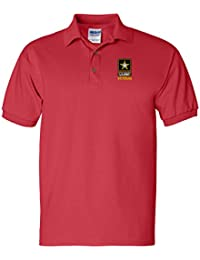 US ARMY VETERAN Custom Personalized Embroidery Embroidered Golf Polo Shirt