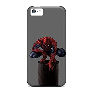 HPxnS15551ViBvq Case Cover Protector For Iphone 5c Spiderman Case