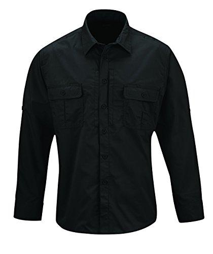 Propper Men's Kinetic Long Sleeve Shirt, Black, 3X-Large/Long
