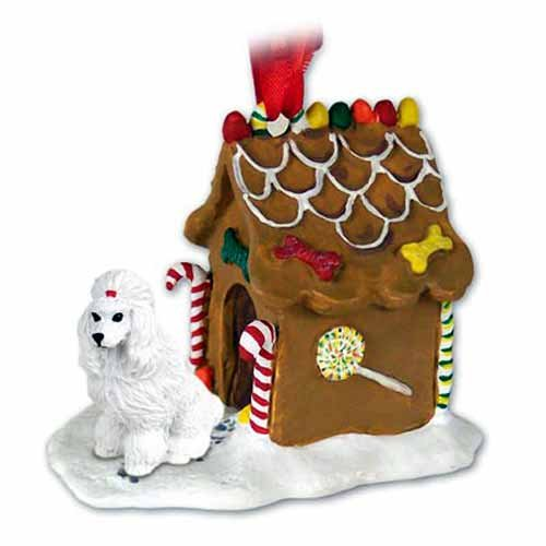 Conversation Concepts NEW White Poodle Ginger Bread House Christmas Ornament