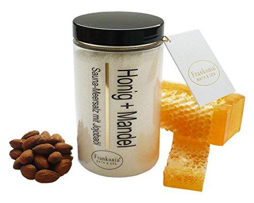 Sauna Salz Honig Mandel mit Jojobaöl, 400 g