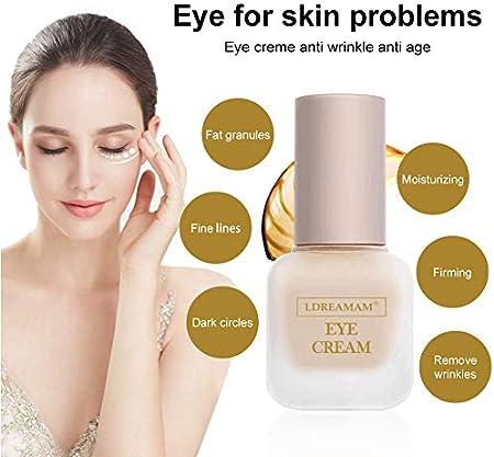 Crema De Ojos - Vegano, Cruelty-Free, Orgánico - Mejor Natural Antienvejecimiento Crema Tratamiento Contorno de Ojos Para Ojeras, Bolsas y Arrugas