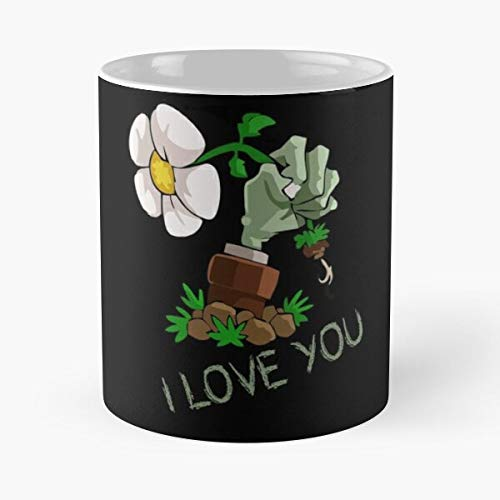 11 Oz Coffee Funny Sophisticated Design Great Gifts White-situen. I Love You Classic Mug Plants Vs Zombies