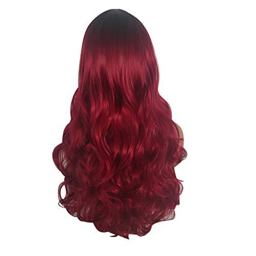 Iusun Wigs,66CM Gradient Cosplay Women's Long Curly
