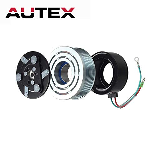 AUTEX AC A/C Compressor Clutch Coil Assembly Kit 80221SWAA02 38810RRBA01 4918U1 Replacement for Honda Civic 2006 2007 2008 2009 2010 2011 1.8L ()