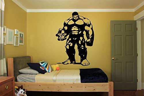 (Wall Decals Decor The Incredible Hulk-The Avengers Sticker-Tony Stark Sticker-The Avengers Decal-Cartoon-Made in USA-Nursery Decor-Room-Nursery LD36)