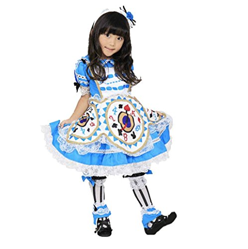 Traditional Alice In Wonderland Costumes - Alice in Wonderland -- Alice Clock-Style Costume in Blue -- Girls M Size