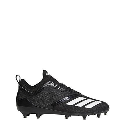 adidas Adizero 5Star 7.0 Cleat Men's Football 10.5 Black-White