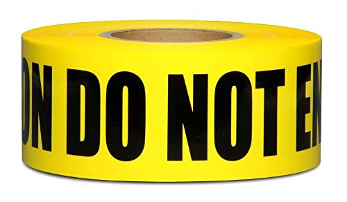 Yellow Caution Do Not Enter Barricade Tape 3 X 1000 • Bright Yellow with a bold Black Print for High Visibility • 3 in. wide for Maximum Readability • Tear Resistant Design by Tapix