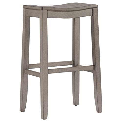 Hillsdale Furniture 4583-831 Fiddler Backless Saddle Bar Stool, Aged Gray