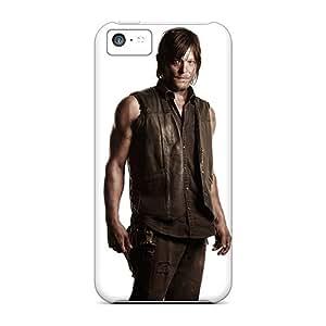 New Premium Flip Case Cover Daryl Walking Dead Skin Case For Iphone 5c
