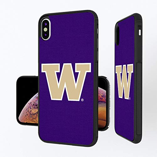 (Keyscaper KBMPXM-0WAS-SOLID1 Washington Huskies iPhone Xs Max Bump Case with UW Solid Design)