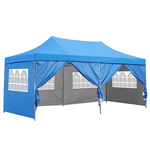 Outdoor Basic 10x20 Ft Pop up Canopy Party Wedding Gazebo Tent Shelter with Removable Side Walls ()