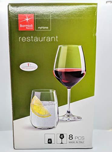 - Bormioli Rocco 8-Piece Restaurant Glass Set, Clear