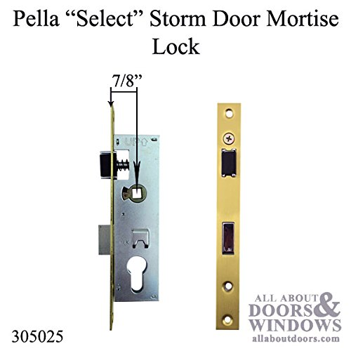 Good Pella Select 6000 Series Mortise Lock Storm Door Hardware Trim    Brushed Brass
