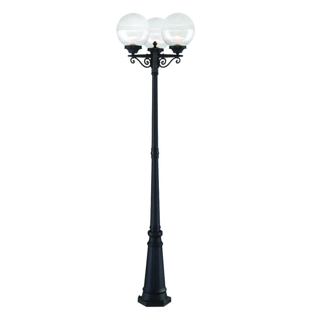 Acclaim 5269BK/CL Havana Collection 3-Head Post Combination 3-Light Outdoor Post Light, Matte Black