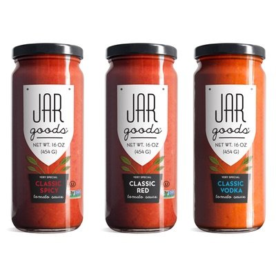 Jar Goods Classic Variety Pack Tomato Sauce (Spicy, Red & Vodka) - 16 oz Glass Jars (Pack of 3) - Homemade Vodka Sauce